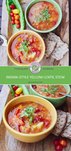 Looking for a nutrient-rich, spicy and savory dish? Try this delicious plant-based (vegan), oil- and salt-free, gluten-free recipe for Indian-Style Yellow Lentil Stew. Lentil Stew, Lentil Curry, Gluten Free Recipes, Vegan Recipes, Yellow Lentils, Tomato Vegetable, All Vegetables, Healthy Soup, Savoury Dishes