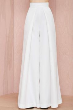 Solace London Stellis Wide-Leg Trouser - White | Shop Solace London at Nasty Gal