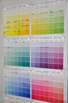 Make a colorful start to the school year!  Organized Wall Calendar by Honey We're Home | #backtoschool