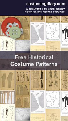 free historical costume patterns [http://www.costumingdiary.com/2010/12/free-historical-costume-patterns.html]