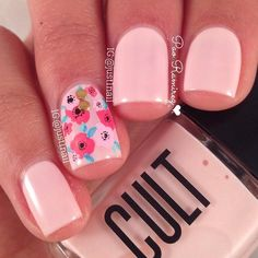 "2 creamy coats of ""Hollywood hills""  by @cultcosmetics  flowers inspired by the talented @nails_by_terran  Decoración De Uñas #moda, #fashion, #nails, #like, #uñas, #trend, #style, #nice, #chic, #girls, #nailart, #inspiration, #art, #pretty, #cute, uñas decoradas, estilos de uñas, uñas de gel, uñas postizas, #gelish, #barniz, esmalte para uñas, modelos de uñas, uñas decoradas, decoracion de uñas, uñas pintadas, barniz para uñas, manicure, #glitter, gel nails, fashion nails, ..."