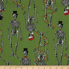 Mr. Chillingsworth Christmas Skeletons With by SewCountryAndGifts