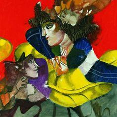 ''Figures'' oil on canvas by Dimitris Mytaras Artist Painting, Artist Art, Greek Paintings, Study Planner, 10 Picture, Greek Art, Conceptual Art, Printmaking, Oil On Canvas