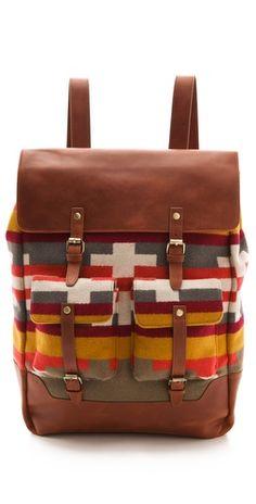 Pendleton, The Portland Collection Ochoco Backpack Backpack Purse, Leather  Backpack, Pendleton Wool, 4d357bf733