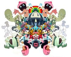 This Psychedelic Series by Sam Gibbons is Fantastical Fun #psychedelicart trendhunter.com