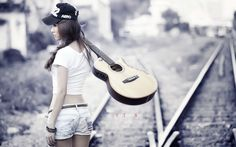 Guitar Girl WallPaper HD - http://imashon.com/w/guitar-girl-wallpaper-hd.html