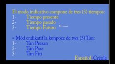 Welcome to the Spanish-Créole course number 4 - Training of the times . Spanish Tenses, Haitian Creole, Learning Spanish, Welcome, Training, Number, Times, Texts, Present Tense