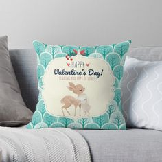 Cute deer and bunny  #nursery #unisex #cute #pillow #shoponline #shoppiccogrande #shopacholic #greenaesthetic #animals #iloveanimals #bunny #rabbit #wildlife #forestfriends #iloveyou #valentine