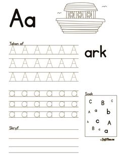 Grade R Worksheets Free Printable Teachers Grade R Worksheets, Alphabet Worksheets, Worksheets For Kids, Alphabet Activities, Printable Alphabet Letters, Alphabet For Kids, Afrikaans Language, Music Lessons For Kids, Piano Lessons