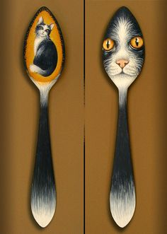 Hey, I found this really awesome Etsy listing at http://www.etsy.com/listing/88329684/hand-painted-wooden-spoon-black-tuxedo