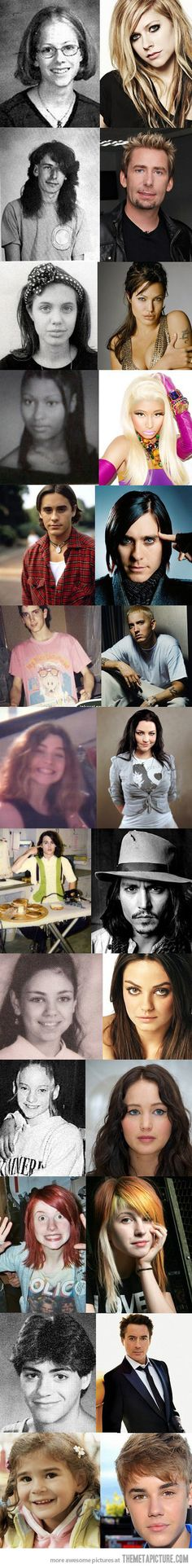 Famous people when they were younger…