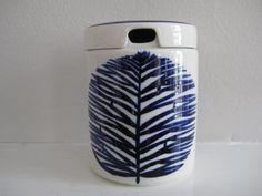 vintage Arabia jam jar  jam jug  Finland  cobalt by zuzuandolive