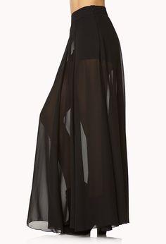 Breezy Chiffon Maxi Skirt | FOREVER21 - 2000109971