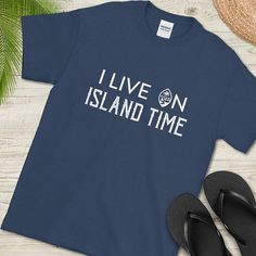I Live on Island Time, Guam Shirt, Guam Seal, Chamorro Seal, Guamanian Shirt, Short-Sleeve T-Shirt