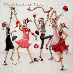 New Ideas ladies christmas party friends Christmas Scenes, Christmas Pictures, Christmas Art, Christmas Greetings, Vintage Christmas, Christmas Decorations, Christmas Ornaments, Christmas And New Year, Christmas Party Images