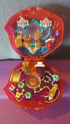 1996 Polly Pocket Sweet Roses Sparkle Surprise Compact Only | eBay