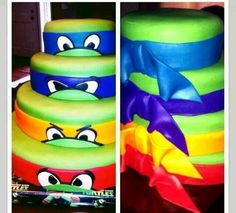 Ninja Turtle stacked cake
