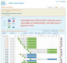 The power-user's #flight lookup site ITA Matrix  #travel #frequentflyer #digitalnomad