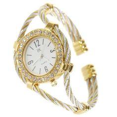 Beautiful Bracelet Style Lady's Crystal Quartz Wrist Watch Ring Watch, Bracelet Watch, Fashion Bracelets, Quartz Crystal, Jewelry Watches, Buy And Sell, Bangles, Crystals, Wrist Watches
