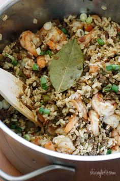 Dirty Brown Rice With Shrimp