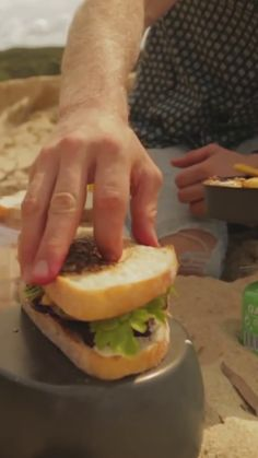 Guy heads to the beach to create an amazing steak sandwich. Best Steak Sandwich, Sandwich Day, Steak Sandwiches, Balsamic Onions, Vegetable Seasoning, How To Grill Steak, Slice Of Bread, Melted Cheese, Steak Recipes