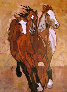 Peggy Judy | tracymillergallery - In the Lead, 24×36, Acrylic on Canvas, $1400