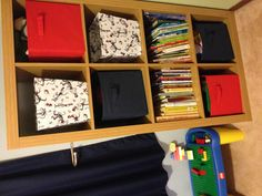 Book shelf with toy storage