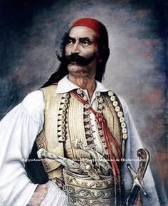 Odysseas Androutsos (or Odysseus Androutsos); (Greek: Οδυσσέας Ανδρούτσος) was a hero of the Greek War of Independence Caucasian Race, Greek Independence, Greek Warrior, Greek History, Greek Music, Leather Ottoman, Ancient Greece, Armour, Film