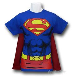 Superman 6-Pack Abs Costume Caped T-Shirt