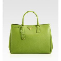 Prada Saffiano Lux Tote Bag ($1,730) ❤ liked on Polyvore