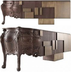 historic modern furniture combo