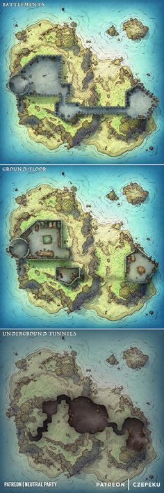 Post with 2800 votes and 151326 views. Tagged with rpg, maps, dnd, tabletop games, dungeons and dragons; Shared by czepeku. Island Fort - DnD Battlemap - Czepeku and Neutral Party Fantasy World Map, Fantasy City, Dungeons And Dragons Homebrew, D&d Dungeons And Dragons, Dcc Rpg, Pathfinder Maps, Building Map, Rpg Map, Dungeon Maps