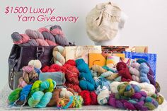 $1500 Yarn Giveaway! - http://blog.expressionfiberarts.com/2014/07/07/1500-yarn-giveaway/