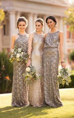 8994 Sequin Bridesmaid Dress with Halter Neckline available at Blush Bridal & Prom - Concord CA - www.myblushbridal.com