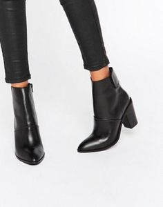 ASOS EFFIE Leather Ankle Boots #AnkleBoots