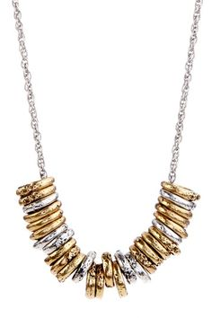 Two-Tone Ring Necklace by Lucky Brand on @HauteLook