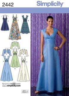 Simplicity Schnittmuster Abendkleid Kleid 2442