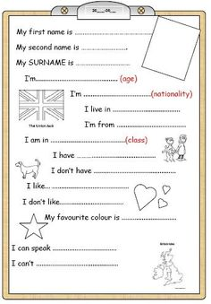 ENGLISH TESTS | Education | Evaluation anglais cm1 ...