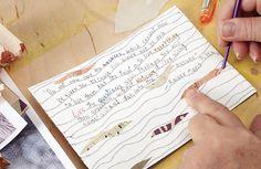 Try this art journaling technique for finding your inner hero. From Quinn McDonald's Inner Hero Creative Art Journal