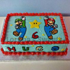 Pastel buttercream Mario
