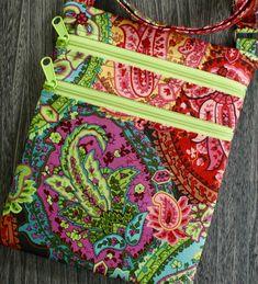Large print paisley Crossbody purse