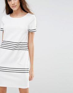 Image 3 ofVila Contrast Stripe Shift Dress