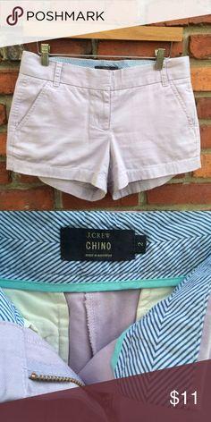 J Crew Shorts Light Lavender- 100% Cotton-great condition- Inseam- 3 inches J. Crew Shorts