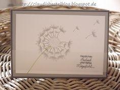 Eine Trauerkarte... die Pusteblume ist mit dem Stempelset Partyballons gestempelt...