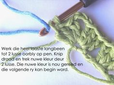 Hekel Idees: Hekel Tutoriaal: Granny Ripple Patroon Afrikaans, Button Canvas, Hobbies And Crafts, Free Crochet, Free Pattern, Projects To Try, Knitting, Words, Tricot