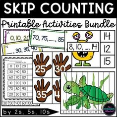 Skip Counting By 2, Kindergarten Teachers, Math Games, Math Centers, Printables, Activities, Print Templates