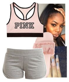 """""""8/14"""" by lookatimani ❤ liked on Polyvore featuring Puma, adidas and Victoria's Secret"""