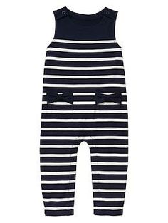 """Little sis has so many hand-me-downs, but I decided she """"needed"""" this...Bow striped one-piece"""
