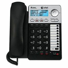 Corded Telephones: Atandt Ml17929 2-Line Corded Office Phone System With Caller Id/Call Waiting New -> BUY IT NOW ONLY: $53.59 on eBay!