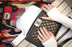 Chanel Boy Bag in quilted leather medium plus size & Miu Miu sneakers - by Stella Asteria | Fashion & Lifestyle Blogger